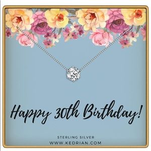 NWT 30th Birthday Necklace, 925 Sterling Silver